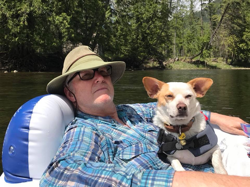 QT and Dr Dad on the river